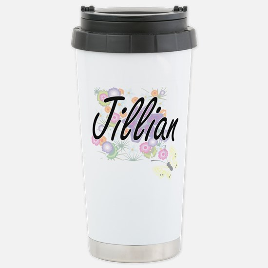 Jillian Artistic Name D Stainless Steel Travel Mug
