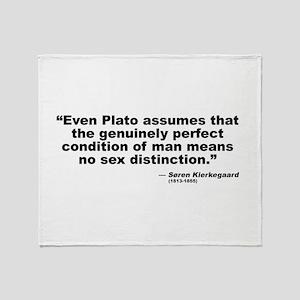 Kierkegaard Gender Throw Blanket