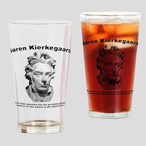Kierkegaard Gender Drinking Glass
