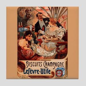 Mucha Art Tile Biscuits Champagne Lefevre-Utile