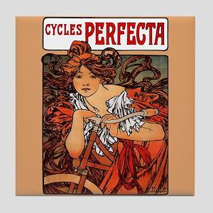 Alphonse Mucha Art Tile Coaster Perfecta Cycles