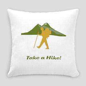Hiker Mountain Everyday Pillow