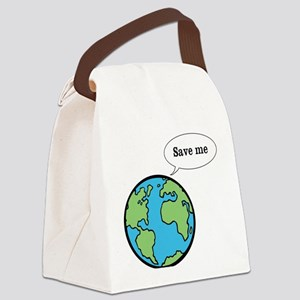 Save the world shirt Canvas Lunch Bag