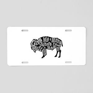 Give Me a Home Buffalo Roam Aluminum License Plate