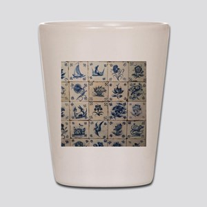 Antique Tile Art Grid Shot Glass