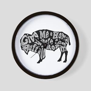 Give Me a Home Buffalo Roam Wall Clock