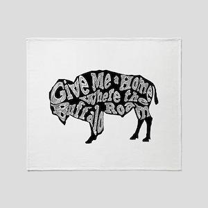 Give Me a Home Buffalo Roam Throw Blanket