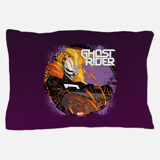 Ghost Rider Driving Pillow Case