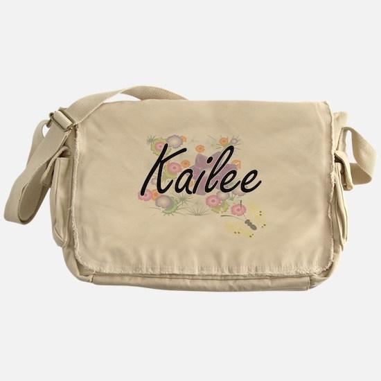 Kailee Artistic Name Design with Flo Messenger Bag