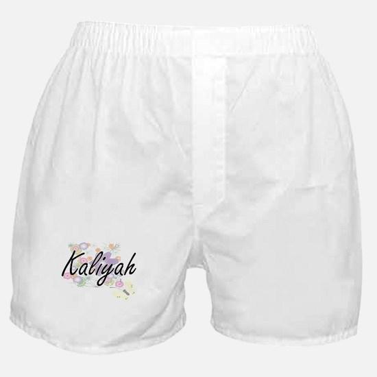 Kaliyah Artistic Name Design with Flo Boxer Shorts
