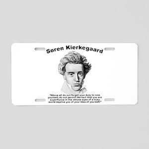 Kierkegaard SelfLove Aluminum License Plate
