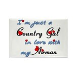 Country Gal Air Force L Rectangle Magnet (10 pack)