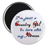 Country Gal Air Force Love Magnet