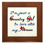 Country Gal Air Force Love Framed Tile