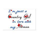 Country Gal Air Force Love Mini Poster Print