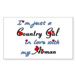Country Gal Air Force Love Sticker (Rectangle)