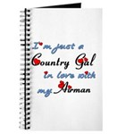 Country Gal Air Force Love Journal