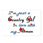 Country Gal Air Force Lov Postcards (Package of 8)