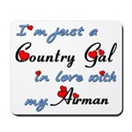Country Gal Air Force Love Mousepad