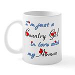 Country Gal Air Force Love Mug