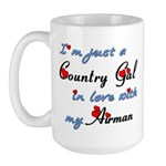 Country Gal Air Force Love Large Mug
