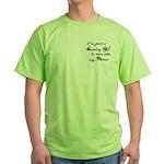 Country Gal Air Force Love Green T-Shirt