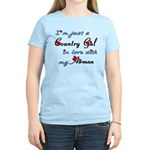 Country Gal Air Force Love Women's Light T-Shirt