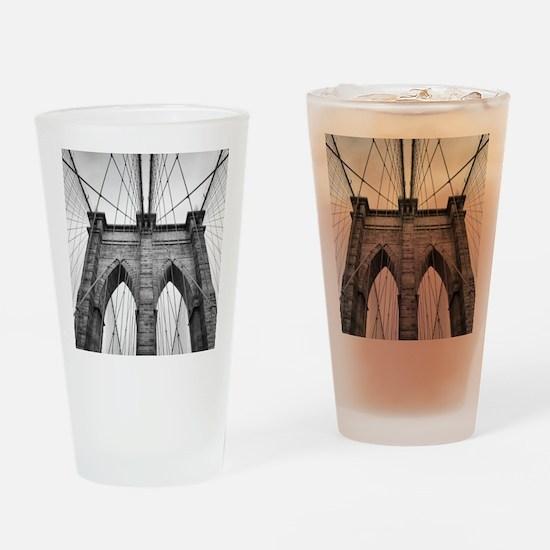 Brooklyn Bridge New York City close Drinking Glass