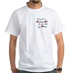 Country Gal Air Force Love White T-Shirt