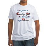 Country Gal Air Force Love Fitted T-Shirt