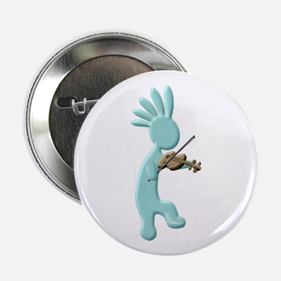 "Kokopelli Fiddle 2.25"" Button"