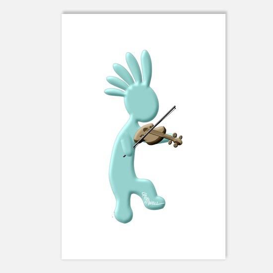 Kokopelli Fiddle Postcards (Package of 8)
