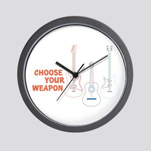Choose Your Weapon Wall Clock