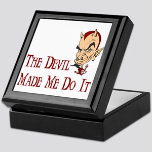 Devil made me do it Keepsake Box