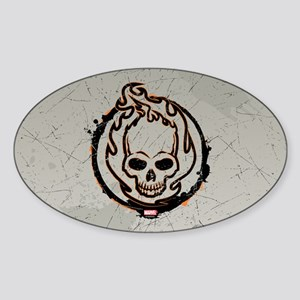 Ghost Rider Logo Sticker (Oval)