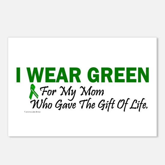 Green For Mom Organ Donor Donation Postcards (Pack