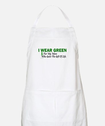 Green For Mom Organ Donor Donation Apron