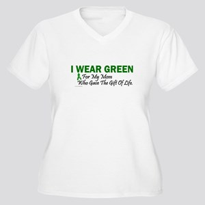 Green For Mom Organ Donor Donation Women's Plus Si