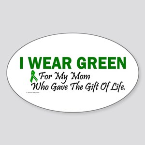 Green For Mom Organ Donor Donation Sticker (Oval)