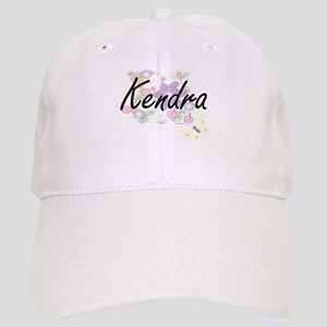 Kendra Artistic Name Design with Flowers Cap