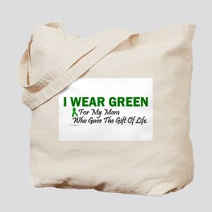 Green For Mom Organ Donor Donation Tote Bag