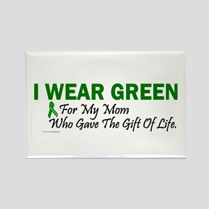Green For Mom Organ Donor Donation Rectangle Magne