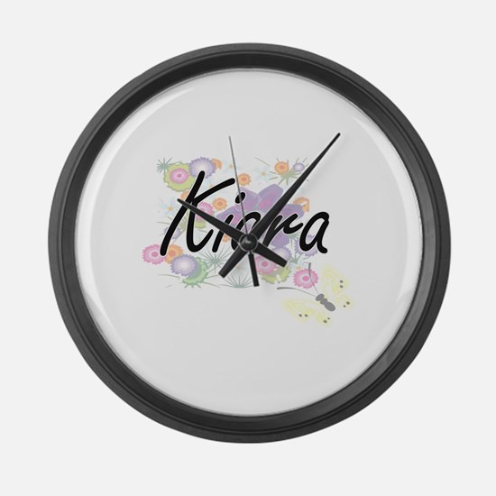 Kiara Artistic Name Design with F Large Wall Clock