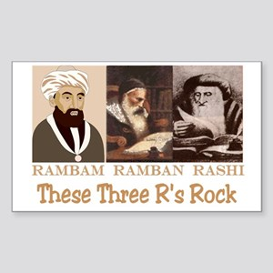 Three Rabbis Rock Rectangle Sticker