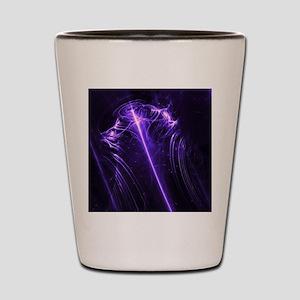 Purple Plasma Glow Flower Shot Glass