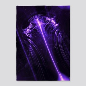 Purple Plasma Glow Flower 5'x7'Area Rug