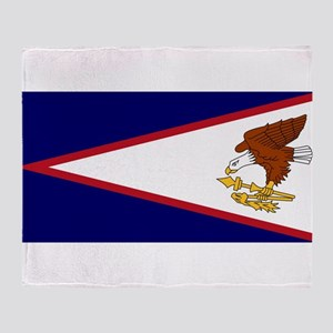 American Samoa Flag Throw Blanket