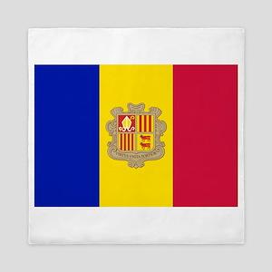 Andorra Flag Queen Duvet