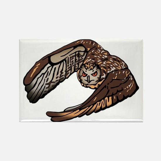 Eagle Owl Natural L Magnets