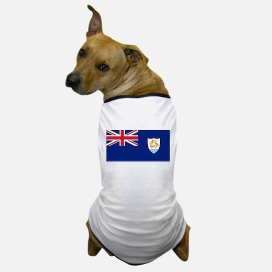 Anguilla Flag Dog T-Shirt